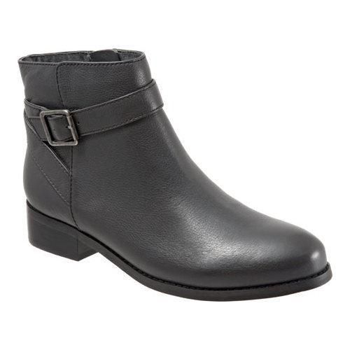Women's Trotters Lux Ankle Boot Dark Soft Wax Tumbled Leather (US Women's 6  N (Narrow)) | Products | Pinterest | Wax, Dark grey and Leather products