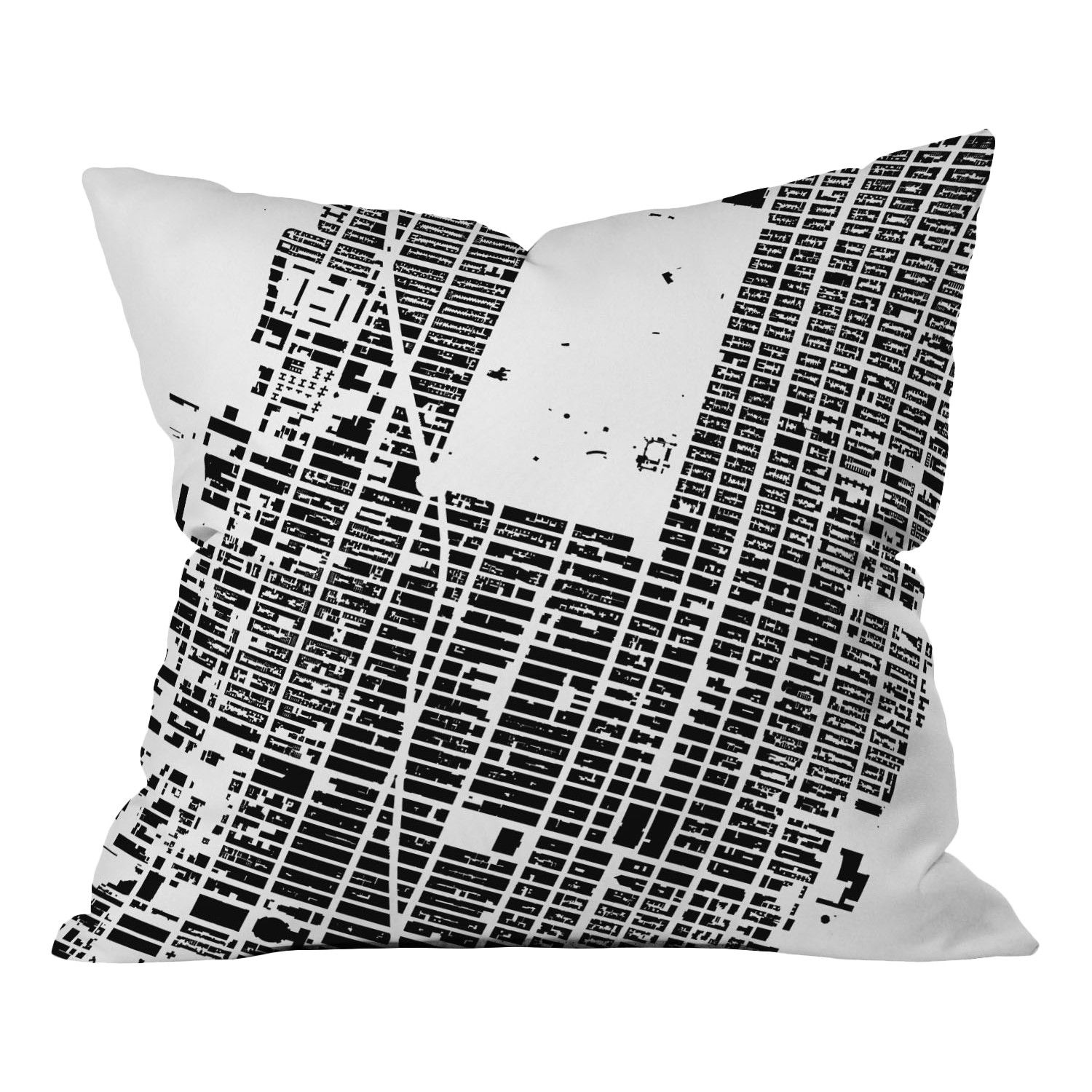 DENY Designs CityFabric Inc. NYC Midtown Woven Polyester Throw Pillow   AllModern