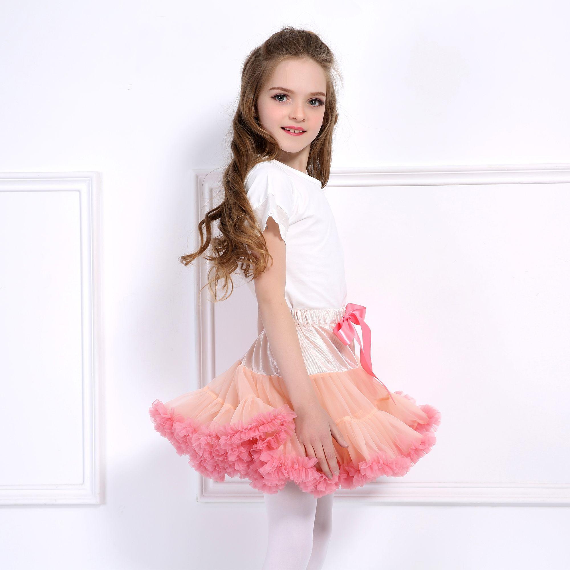 Skirt Baby Girls Tutu Fluffy Children Ballet Princess Tulle Party Dance Skirts B