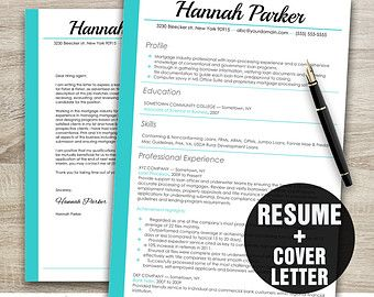 resume template cv template cover letter template instant download creative resume design - Creating Cover Letter For Resume