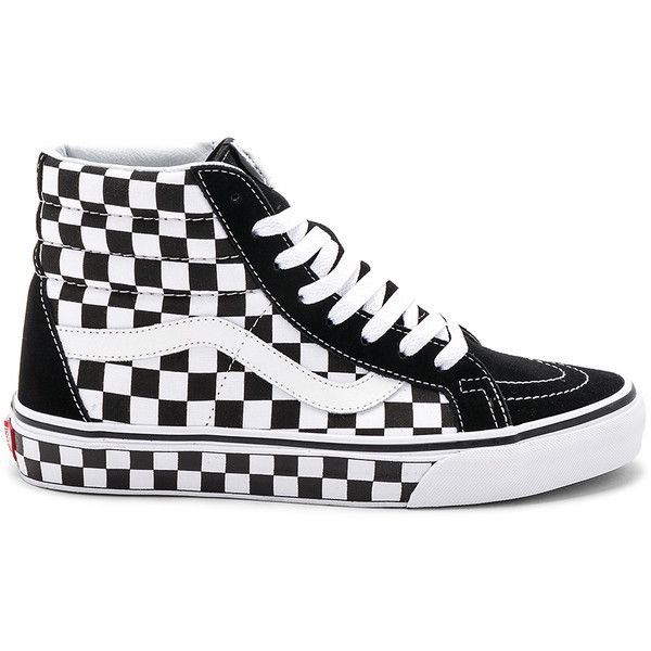 Vans Sk8-Hi Reissue Checkerboard ( 65) ❤ liked on Polyvore featuring men s  fashion 9a1f45263
