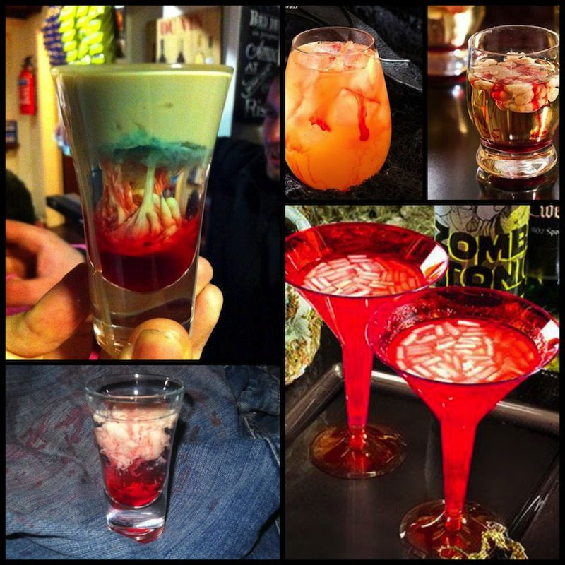Halloween Party Cocktail Ideas Part - 16: Bloody And Brainy Cocktails Ideas For A Walking Dead Halloween Party