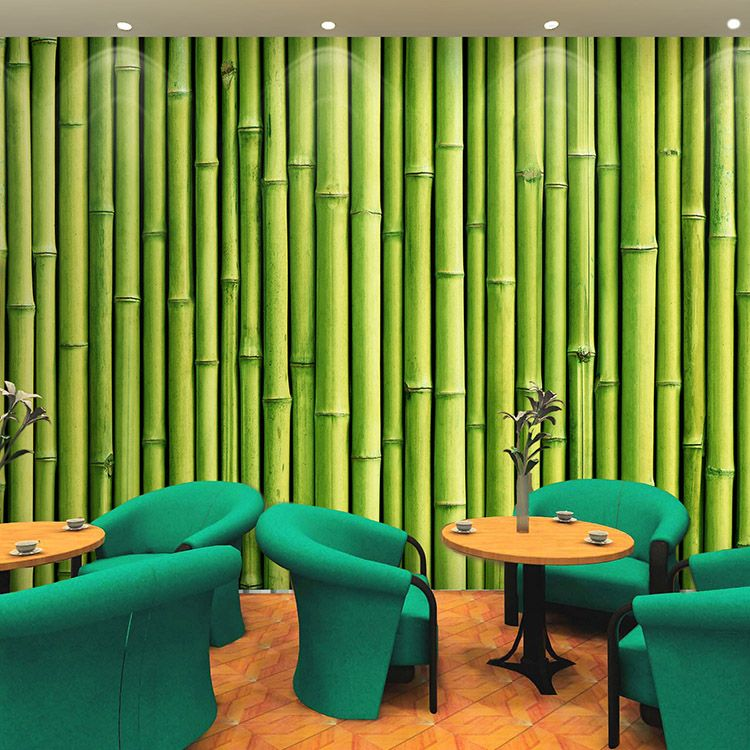 Removable Bamboo Mural 3d Wall Mural Wallpaper For Bar Coffee Office