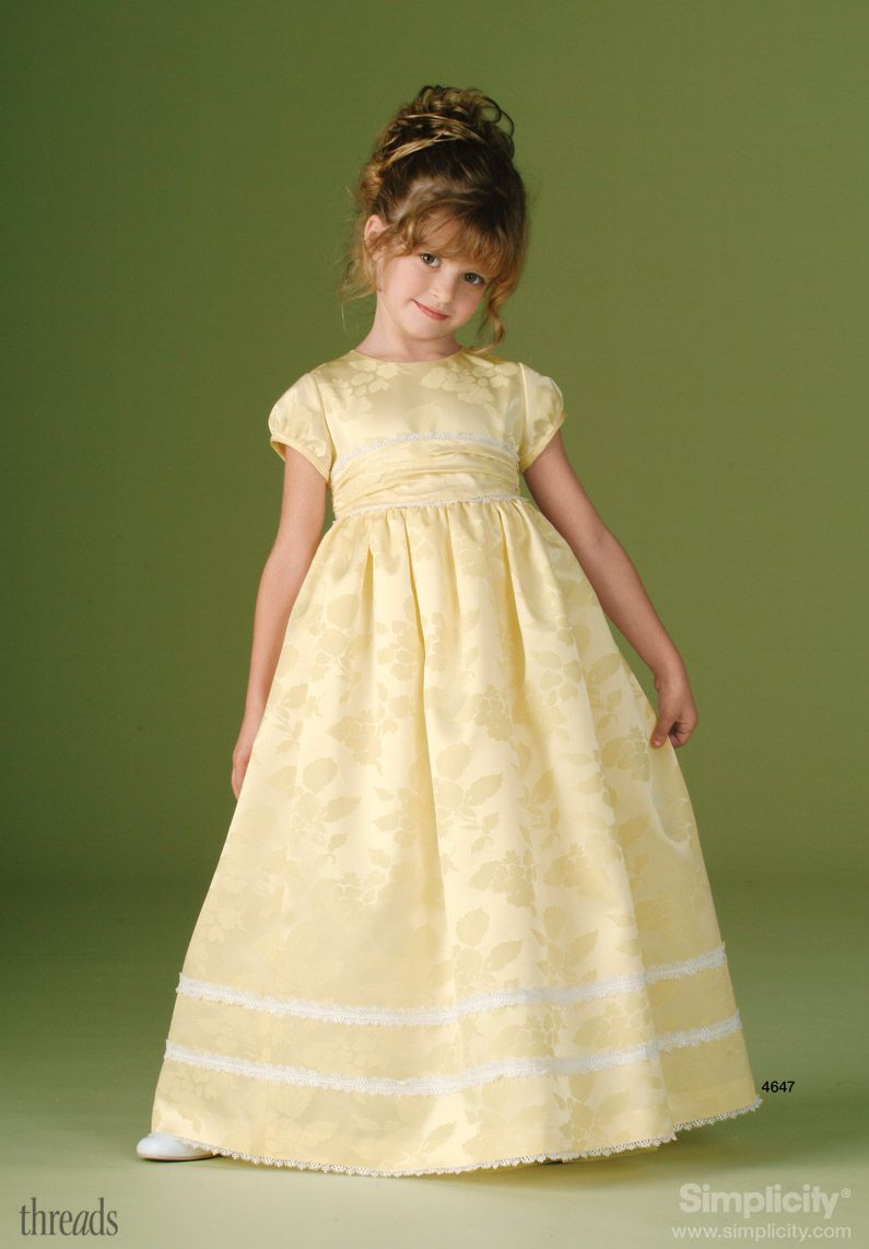 Childs Special Occasion Dress Sewing Pattern 4647