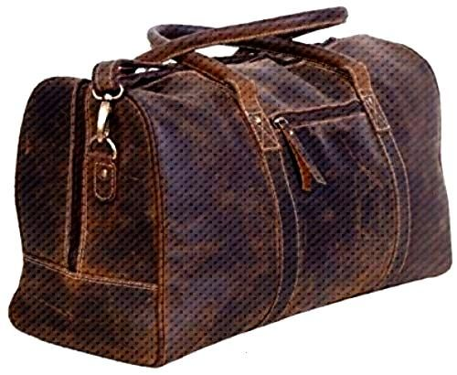 Enjoy exclusive for KomalC Leather Duffel Bags Men Women Full Grain Leather Travel Overnight Weeken