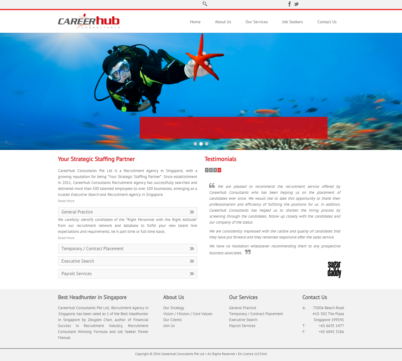 Website Templates Design Proposal for Adecco Singapore
