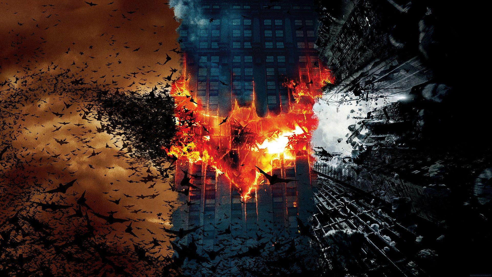 All Three Batman Posters In One Dark Knight Wallpaper Batman