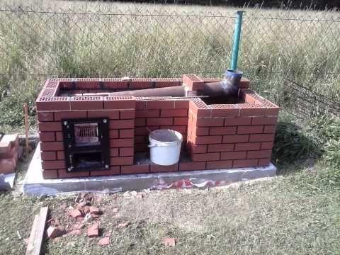 Kuchnia ogrodowa grill wędzarnia in 2020 | Smoke house diy