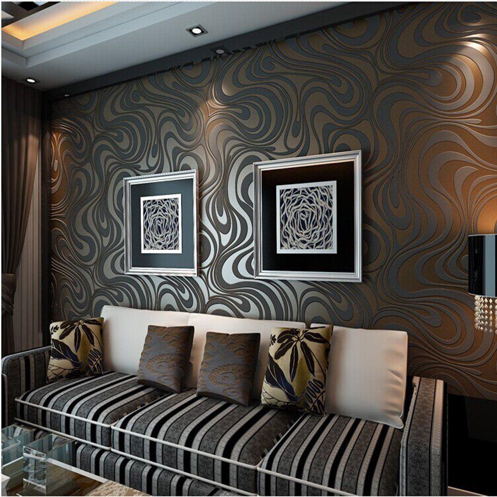 10M Modern Luxury Abstract Curve 3d Wallpaper Roll Mural