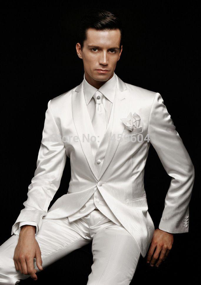 c2482fc0eb2 White+Tuxedo | mens white tuxedo jacket with black trim | couple of ...