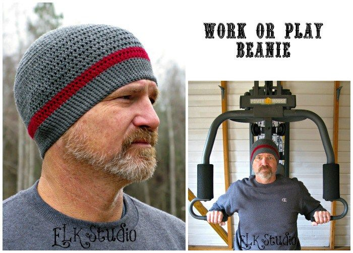 Work or Play Beanie - A FREE Crochet Pattern by ELK Studio