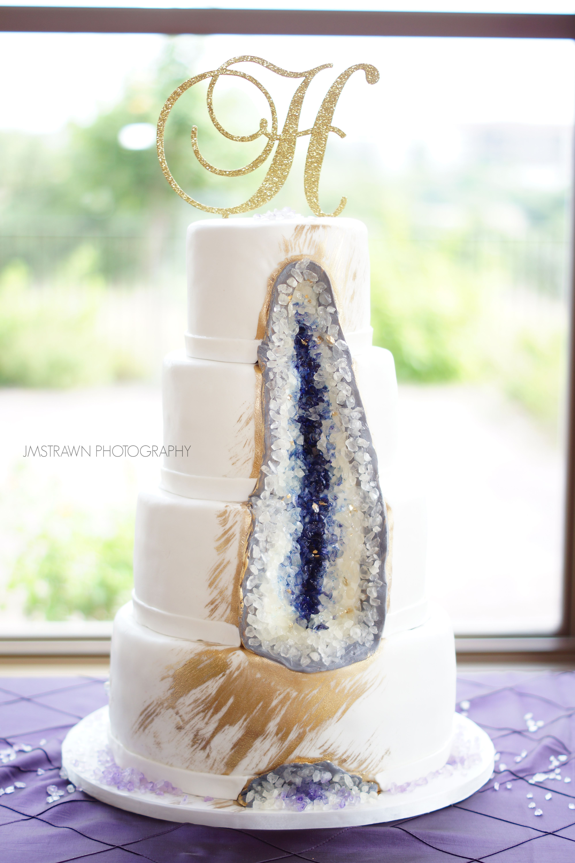 Gemstone Wedding Cake Geo Cake Weddingday Sanantoniowedding