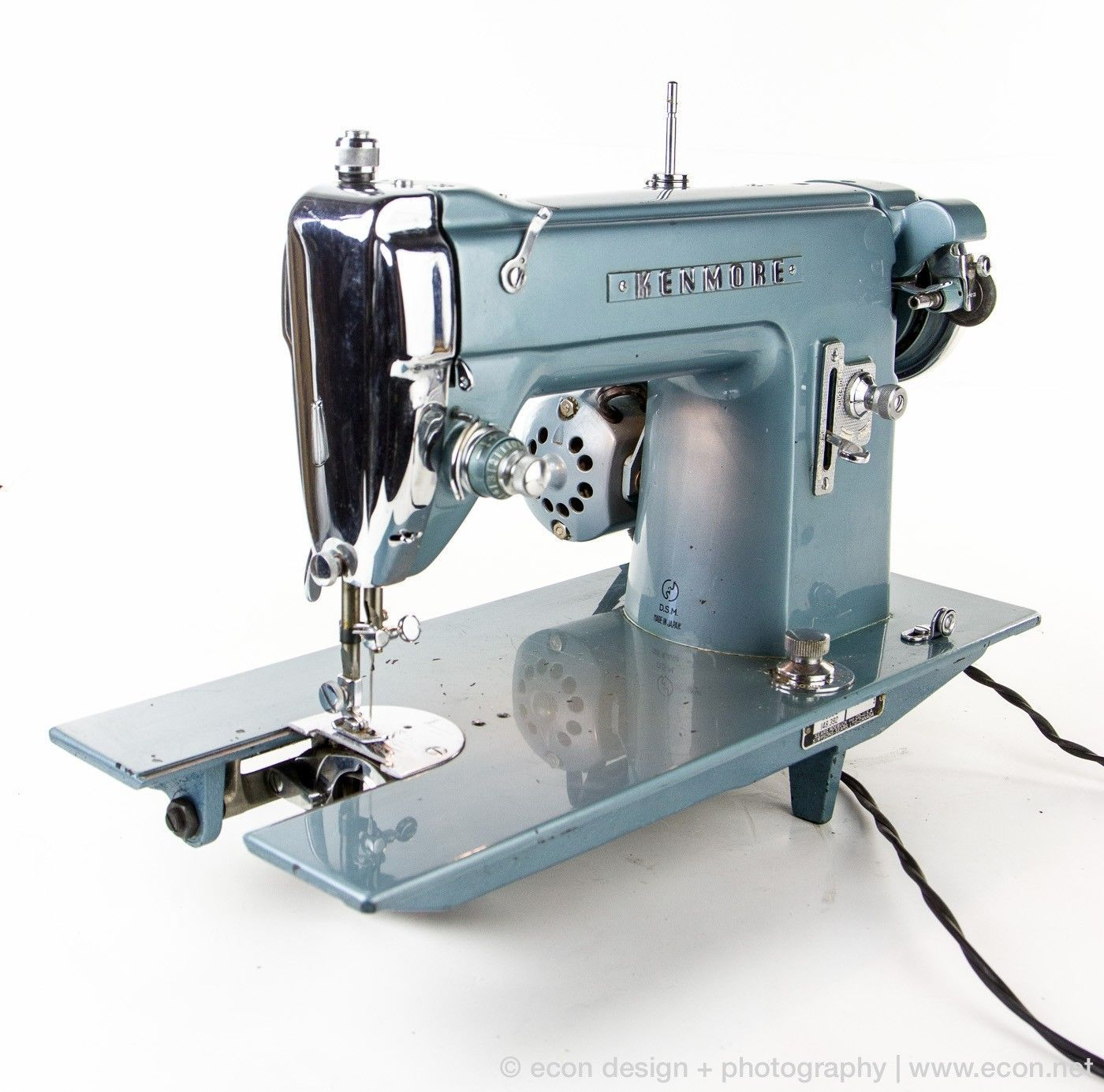vintage kenmore 148 392 heavy duty blue sewing machine amp pedal japan 1960 product [ 1400 x 1385 Pixel ]