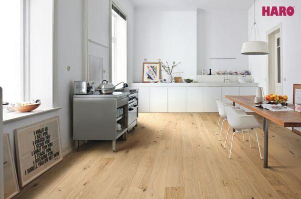 HARO Parkett Landhausdiele 4000 Eiche gekalkt Parkett Pinterest - Parkett In Der Küche