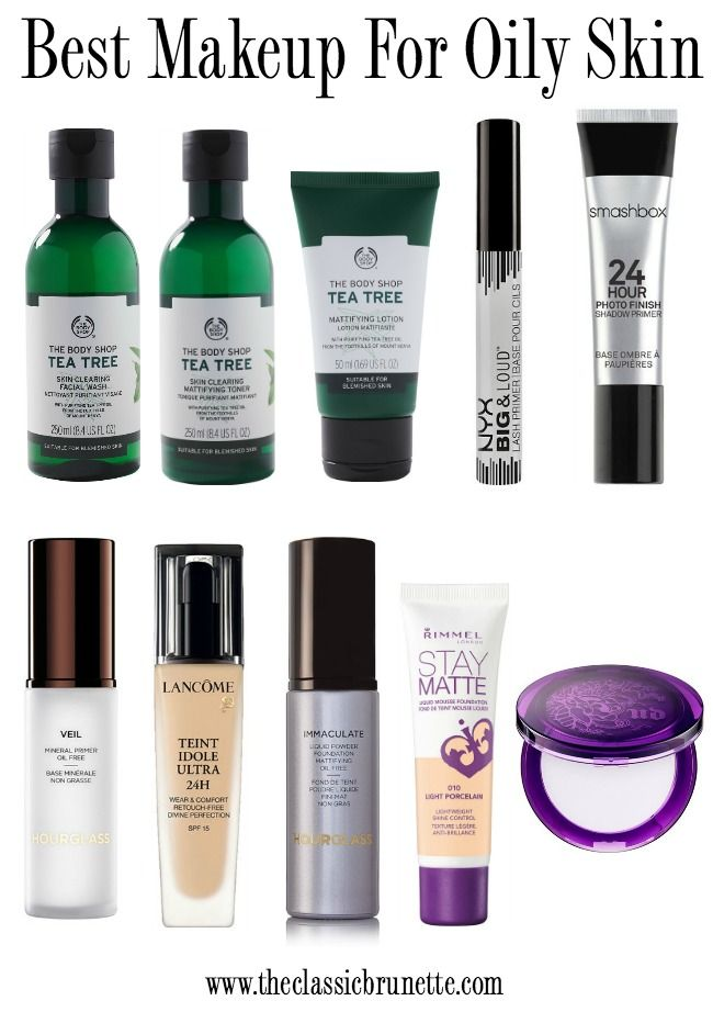 Best Makeup Products For Oily Skin | Oily skin makeup ...