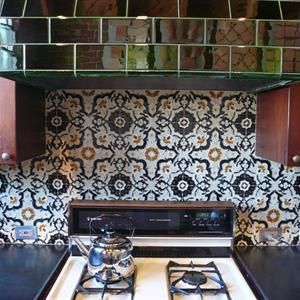 Hand Painted Ceramic Solistone From Specialty Tile Miami Circle - Discount tiles miami