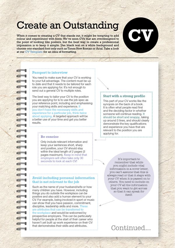 Create An Outstanding CV \u2013 Pt 1   wwwbrightwaterie Resume