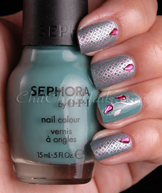 MASH Nail Art Tear Drop Rhinestones.. Author: marta | Nail Art ...