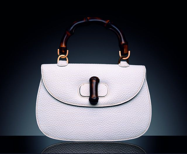 f30a677fd93 Timeless  The Gucci Bamboo Bag - 1947. Gucci produces its first bamboo-handled  bag (at the time just called the 0633