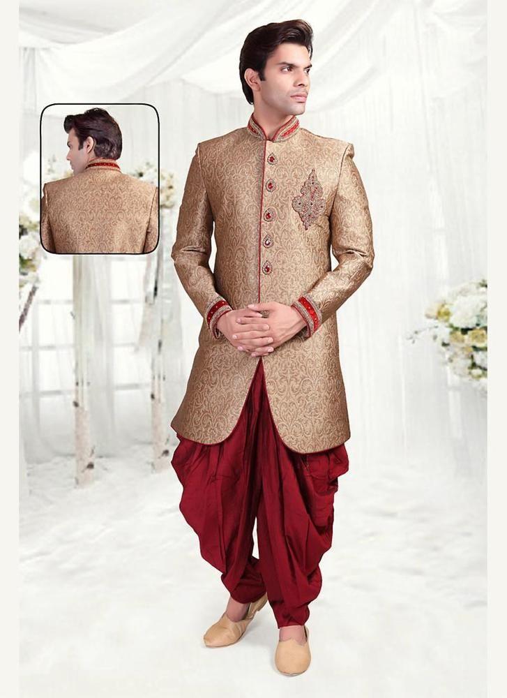 Wedding Mens Indian Ethnic Readymade Bollywood Dress Indostyle Designer Sherwani