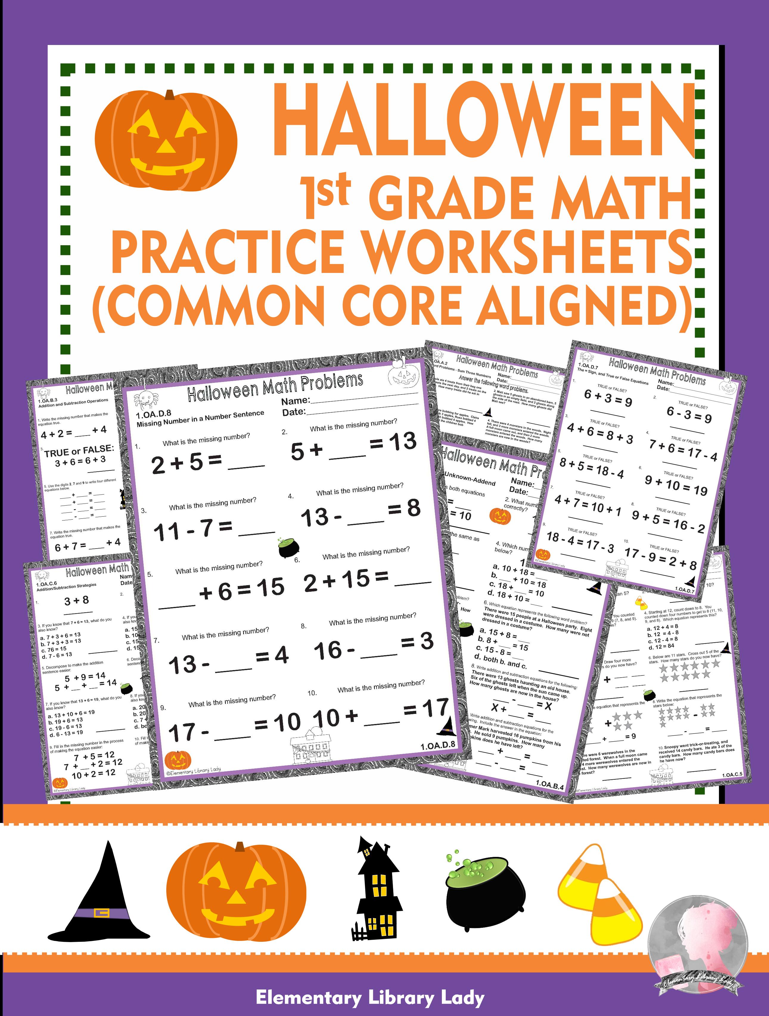 Halloween 1st Grade Math Worksheets Common Core 1 Oa 1st Grade Math Worksheets 1st Grade Math Common Core [ 3410 x 2581 Pixel ]