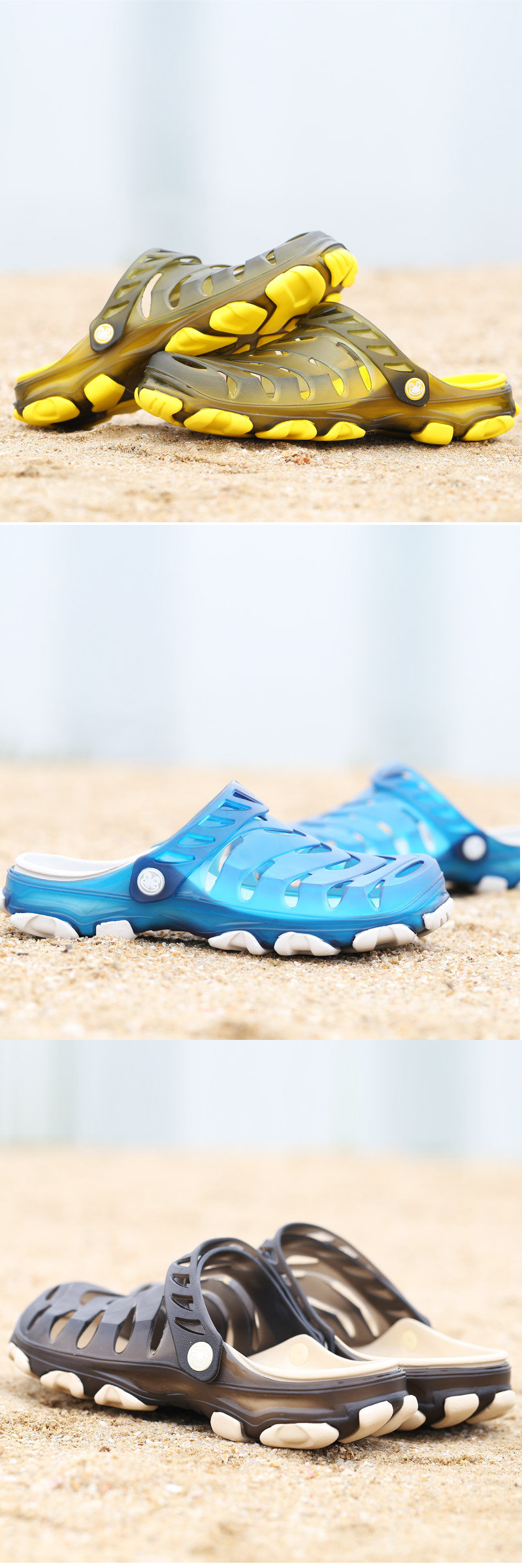US$17.60 Men Hole Breathable Soft Beach Sandals Light Waterproof Shoes