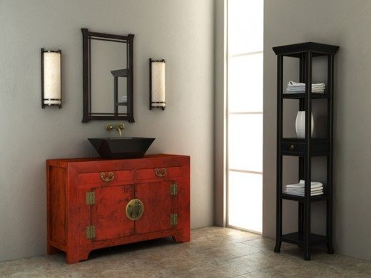 The bathroom vanity tower space saving storage solution for Tansu bathroom vanity