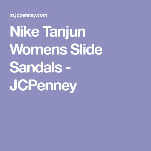 0bf11c18d30 Nike Tanjun Womens Slide Sandals - JCPenney Nike Tanjun