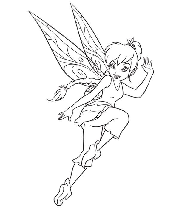 fairy coloring pages Peter Pan Pixie fairy coloring page favv
