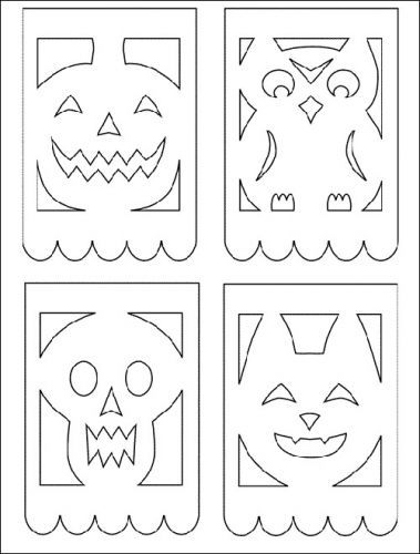 Papel picado patterns posts related to papel picado for Papel picado template for kids