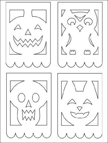 Papel Picado Patterns Printable Fun Printable Hacer Sobres De Papel Calavera De Papel Sobres De Papel Como Hacer