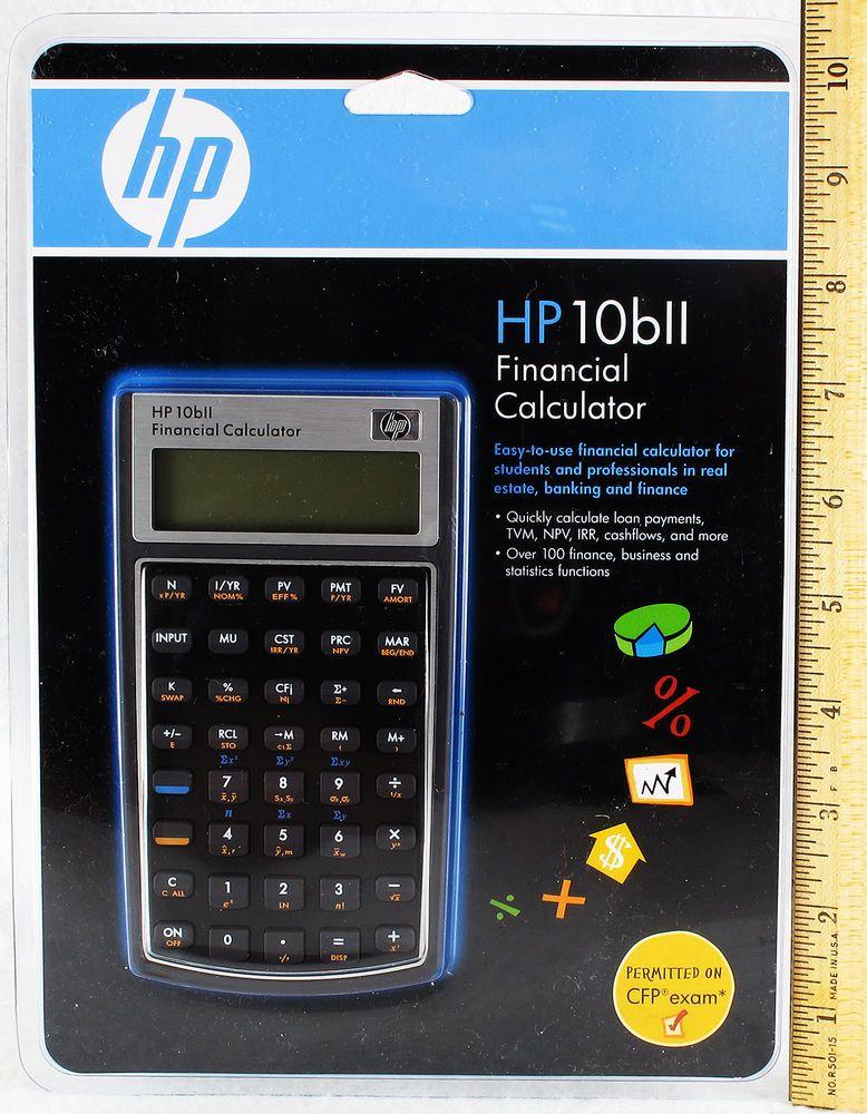 Hp Bii Financial Calculator New Hewlett Packard Business