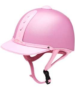 Pink Harry Hall Carbon Look Legend Riding Hat - click on image for details.