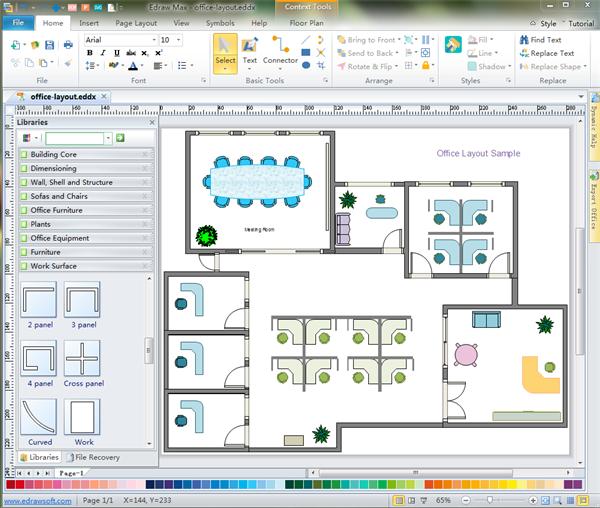 Office Furniture Floor Plan Software In 2020 Free Floor Plans Office Floor Plan Floor Plan App