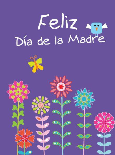 Tarjeta Para Imprimir Del Dia De La Madre Feliz Dia De La Madre