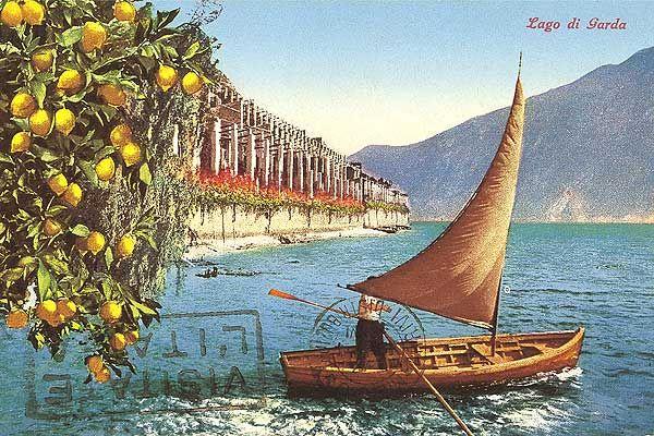 vintage postcard #lagodigarda #gardalake #gardasee