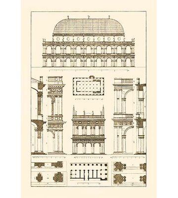 Buyenlarge Basilica at Vicenza and Library of St. Marks at Venice by J. Buhlmann Graphic Art | Wayfair