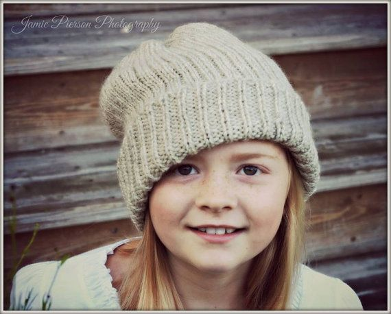 Knitting PATTERN Ribbed Slouchy Hat Child to by CuddleMeKnits ...