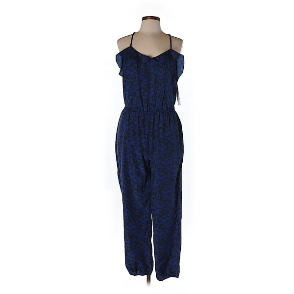 Pre-owned Aqua Jumpsuit ($57) ❤ liked on Polyvore featuring jumpsuits, dark blue, aqua jumpsuit, blue jumpsuit, jump suit and blue jump suit