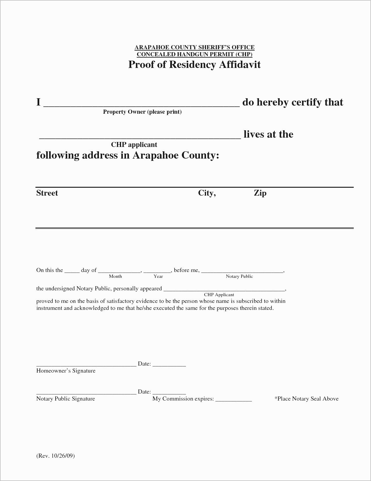 Printable Notarized Letter Of Residency Template Letter Template Word Letter Templates Free Letter Template