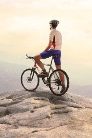 Download Free Riding Bike On Mountain Sports Iphone Wallpaper