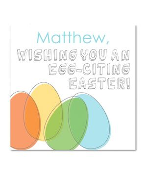 Easter Cards: Tiny Prints Easter Egg-citement
