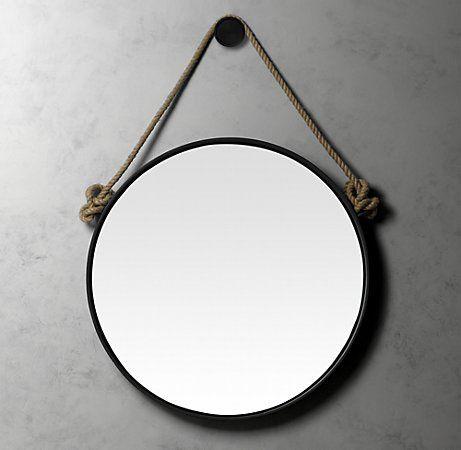 Restoration hardware iron and rope mirror home decor - Specchio tondo ikea ...