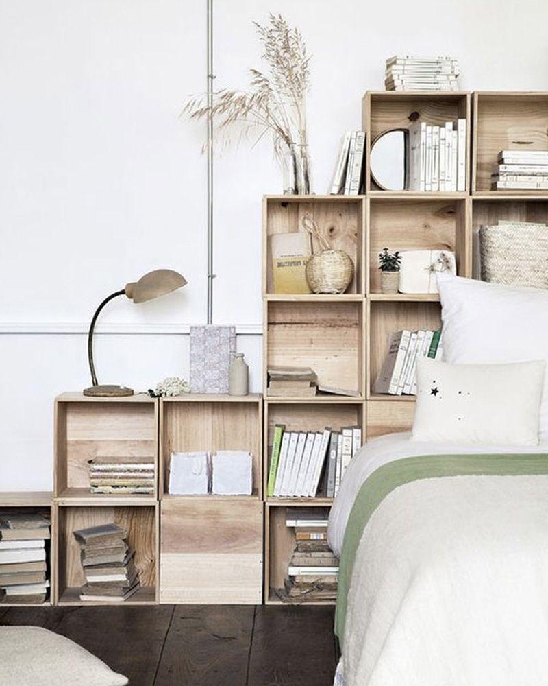 idée déco bois chambre caisse en bois  Dormitorios, Diy home