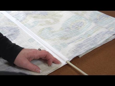 How To Make Roman Shades Without Dowel Rods Bing Video Projects