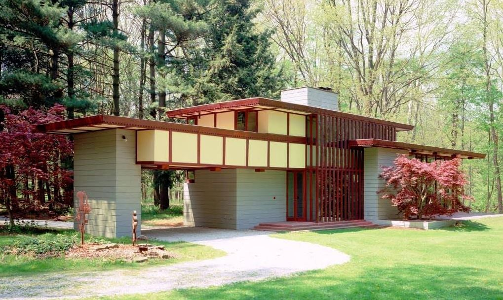 The Louis Penfield Usonian House In Willoughby Hills Cleveland Ohio Frank Lloyd Wright Homes Frank Lloyd Wright Frank Lloyd Wright Style