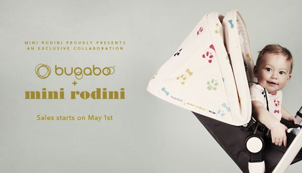 Bugaboo is collaborating with über cool Swedish kid's wear label Mini Rodini.