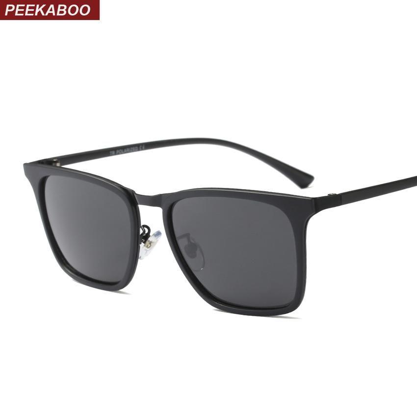23396a65f66 Eyewear · Peekaboo tr90  sunglasses men  polarized uv400 high quality matte  black brown 2018 summer men