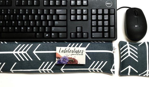 """Ergonomic Keyboard Pad Mouse Pad -"""" With Removable Washable Cover"""" - office gift - Wrist Rest Heat P"""