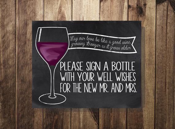sign a bottle guest book guest book sign wine bottle guest book